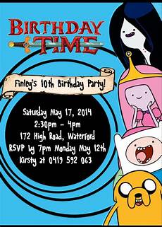 Adventure Time Party Invitations Adventure Time Party Invitation Editable Partygamesplus