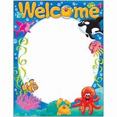 Welcome Chart For Classroom Welcome Sea Buddies Learning Chart T 38357 Trend