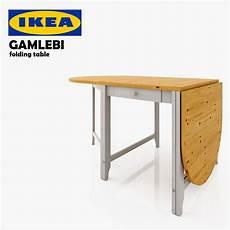 Folding Sofa Table 3d Image by Ikea Gamlebi Folding Table 3d Max
