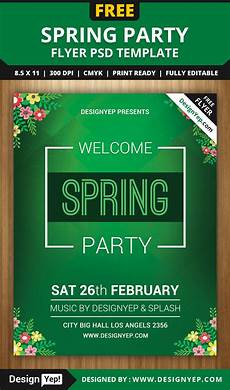 Flyer Templet Free Spring Welcome Party Flyer Psd Template Designyep
