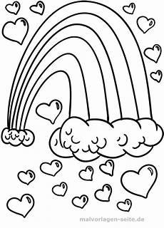Ausmalbilder Zum Ausdrucken Regenbogen Malvorlage Regenbogen Herzen Kostenlose Ausmalbilder