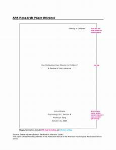 Apa Formatting Research Paper Apa Research Paper Example Free Download
