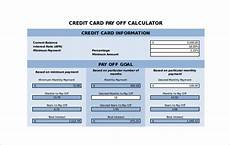 Credit Card Payment Plan Calculator Sample Credit Card Payment Calculator 8 Documents In Excel