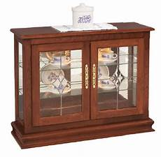 small console curio cabinet display from