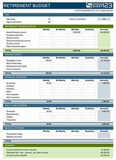 Retirement Budget Planner Retirement Budget Planner Free Template For Excel