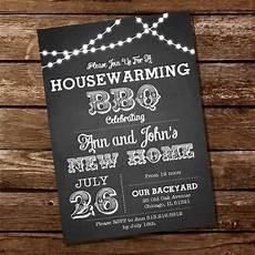 Housewarming Party Invitations Chalkboard Housewarming Bbq Party Invitation Sunshine