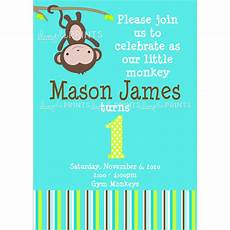Monkey Birthday Invitations Monkey Printable Birthday Or Shower Invitation Dimple
