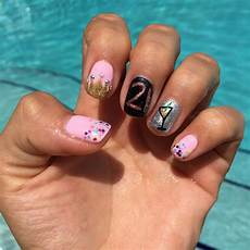 21st Birthday Nail Designs 21st Birthday Nails Pink Birthday Nails Gel Crown