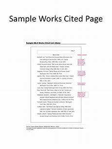 Is It Work Or Works Cited Works Cited In Textcitation