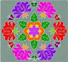 Color Kolam Designs With Dots Flower Kolam With Dots Jpg 743 215 671 Rangoli Pinterest