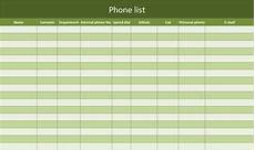 Phone Extension List Template Excel Phone List As Excel Template Free Of Charge Excel