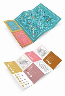 Foldable Pamphlet Template Design A Fold Out City Guide In Adobe Indesign