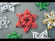 3d Paper Snowflake 3d Paper Snowflake Tutorial Youtube