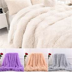 faux fur blanket soft fluffy sherpa bedding blanket