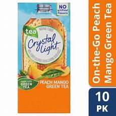 Crystal Light Energy Peach Mango Crystal Light On The Go Sugar Free Powdered Peach Mango