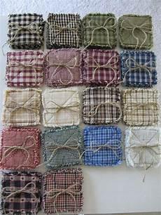 homespun rag quilt coasters set of 4 18 color choices 5