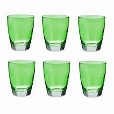 bicchieri in vetro colorato bicchiere acqua vetro colorato serie happy verde cl 30 set
