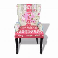 patchwork chair patchwork chair upholstered armrest relax multi coloured