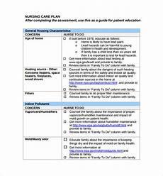 Nursing Care Plan Template Pdf Sample Nursing Care Plan Template 8 Free Documents In