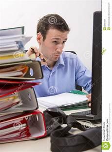 At Work Werkzeugkastenerwachsene by Confused Accountant At Work Stock Image Image Of