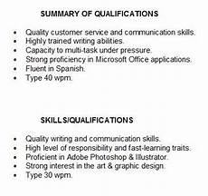 Examples Of Qualifications For Resumes Quotes Summary For Resume Quotesgram