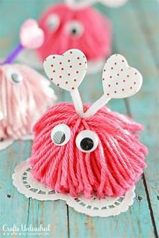 crafts valentines day craft pom pom monsters tutorial