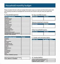 Monthly Family Budget Free 12 Family Budget Samples In Google Docs Google
