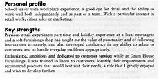 Cvs Examples For Personal Profile Your Cv In English