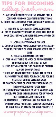 College Study Tips For Freshmen Prep In Your Step Tips For Incoming College Freshmen