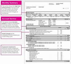 Sample Mobile Bill Sample Monthly Bill Breakdown Including Fees