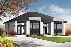 contemporary semi detached multi family house plan