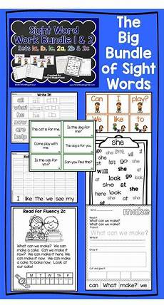 Word For Sight Word Work Big Bundle 1 And 2 Sight Words Sight