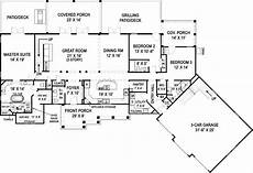 4 Bedroom Ranch House Plans Country Ranch House Plans Rustic Estate Style Without Stairs
