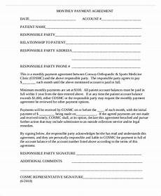 Monthly Payment Contract 48 Sample Agreement Templates Word Pdf Free