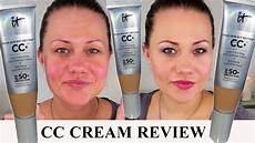 It Cosmetics Cc Cream Light It Cosmetics Cc Cream Review Amp Demo Lichtschutzfaktor