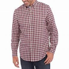 george sleeve shirts for george s sleeve twill plaid shirt walmart