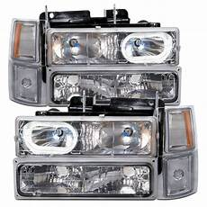 Led Lights For 85 Chevy Truck Headlights 94 98 Chevy Truck Chrome Headlamps W Halo W