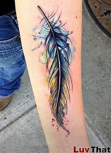 Female Feather Designs 25 Amazing Watercolor Tattoos Luvthat