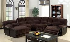 glasgow contemporary brown sectional sofa set with
