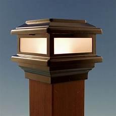 Cap Lights For Deck Triton Led Post Cap Light By Aurora Deck Lighting