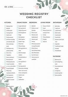 Complete Wedding Checklist The Complete Wedding Registry Checklist Free Printable