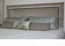 stylish headboard in crushed velvet modern design great