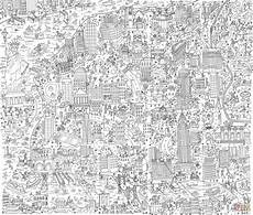 new york doodle coloring page free printable coloring pages