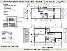 duplex townhouse house plans modern 2 story home 208 m2 etsy