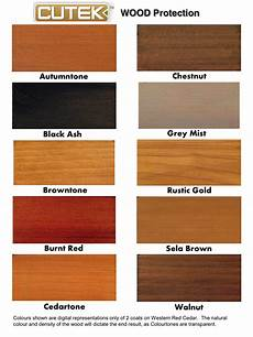 Natural Wood Colors Chart Cutek Colourtones Stains And Cleaners Wood Solutions