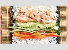 Baked Salmon Sushi