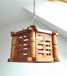 Farmhouse Swag Light Vintage Wood Lamp Rustic Farmhouse Pendant Light Hanging