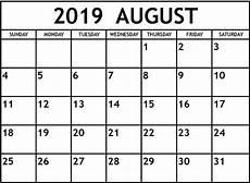 Calendar August Free Printable August 2019 Calendar Cute Magic Calendar