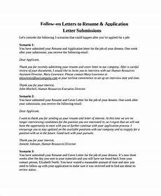 Resume Follow Up Letters Free 9 Sample Follow Up Letter Templates In Pdf Ms Word