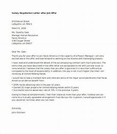 How To Negotiate A Job Offer Salary Negotiation Letter 4 Free Word Documents Download